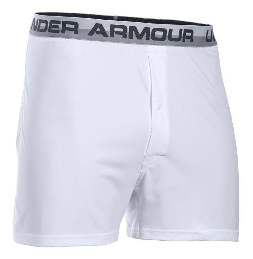 Mens Under Armour Original Boxer Underwear Bottoms - White/Anthracite S