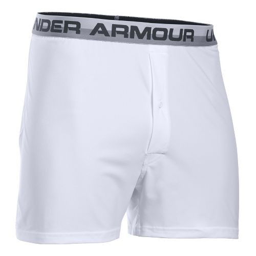 Mens Under Armour Original Boxer Underwear Bottoms - White/Anthracite XL