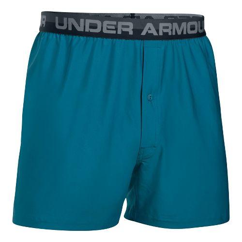 Mens Under Armour Original Boxer Underwear Bottoms - Bayou Blue/Steel S