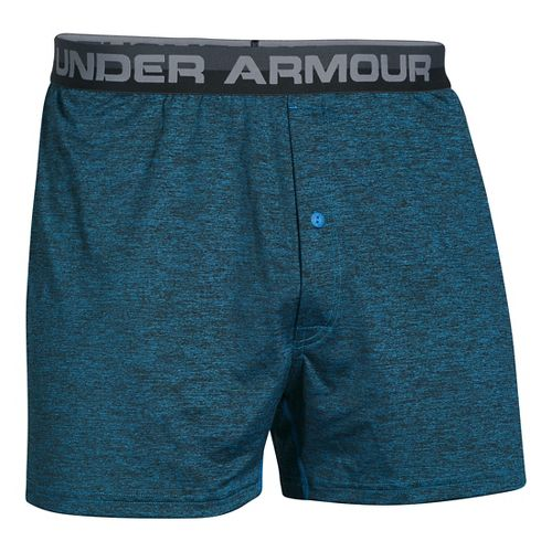 Mens Under Armour Original Twist Boxer Underwear Bottoms - Brilliant Blue L