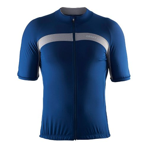 Mens Craft Velo Jersey Short Sleeve Technical Tops - Deep/Grey M