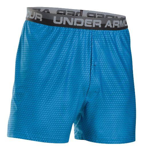Mens Under Armour Original Printed Boxer Underwear Bottoms - Brilliant Blue/Steel L