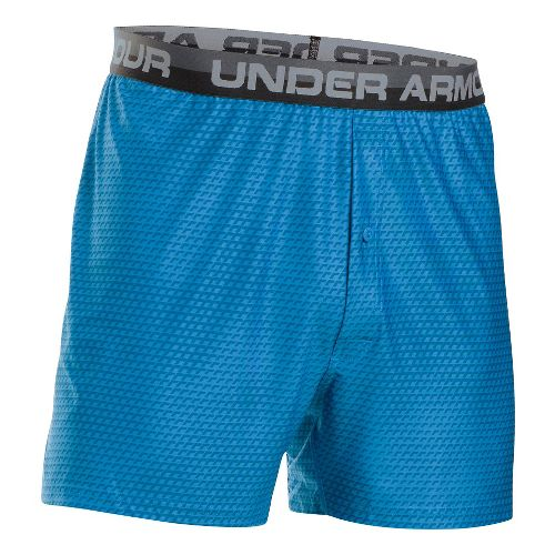 Mens Under Armour Original Printed Boxer Underwear Bottoms - Brilliant Blue/Steel L