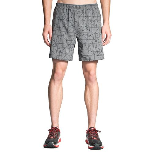 Mens Brooks Rush 7in Lined Shorts - Oxford Tangent S