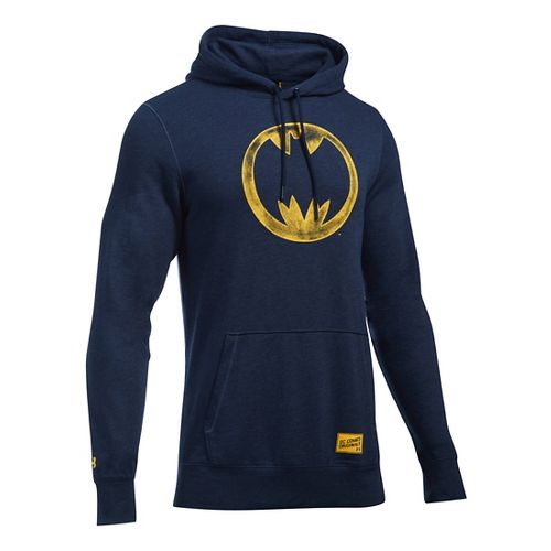 Mens Under Armour Retro Batman Triblend Hoodie & Sweatshirts Technical Tops - Navy M
