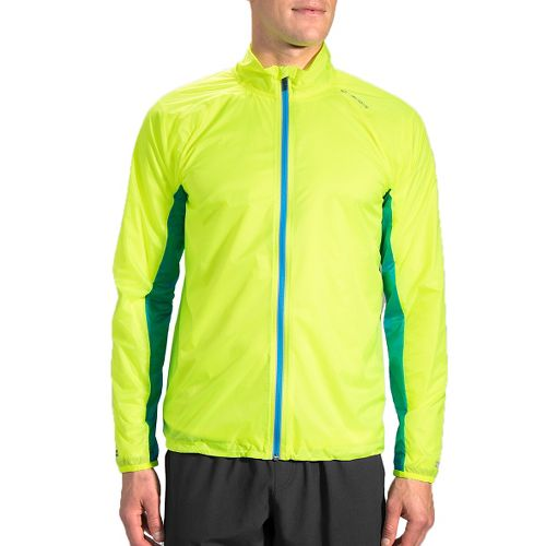 Mens Brooks LSD Running Jackets - Nightlife/Ultra Blue L
