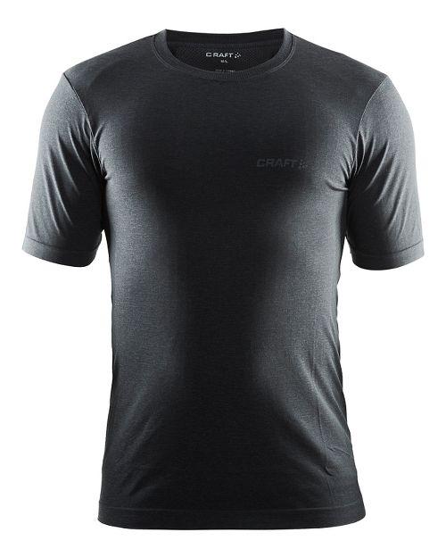 Mens Craft Seamless Touch Tee Short Sleeve Technical Tops - Black Melange L/XL
