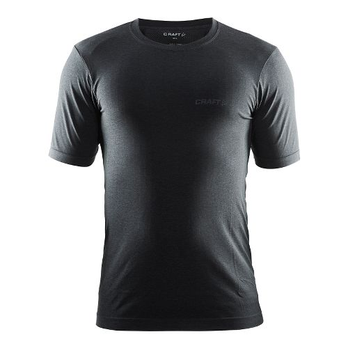 Mens Craft Seamless Touch Tee Short Sleeve Technical Tops - Black Melange L/XL