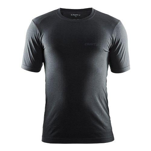 Mens Craft Seamless Touch Tee Short Sleeve Technical Tops - Black Melange M/L