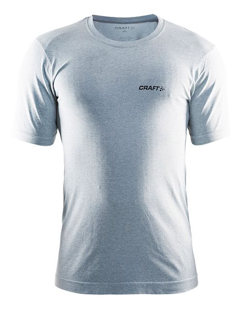Mens Craft Seamless Touch Tee Short Sleeve Technical Tops - Grey Melange L/XL