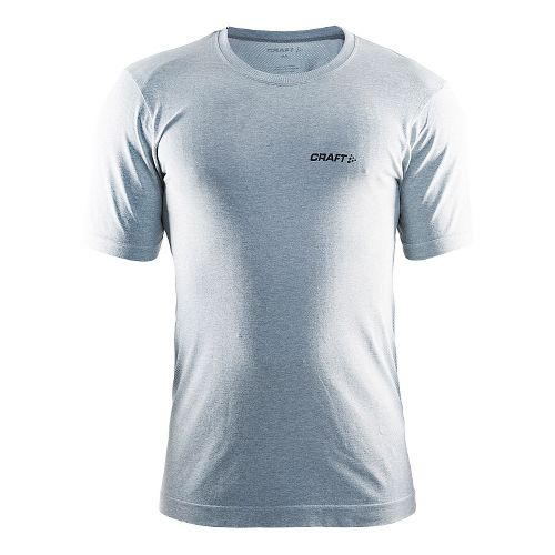 Mens Craft Seamless Touch Tee Short Sleeve Technical Tops - Grey Melange L/XL
