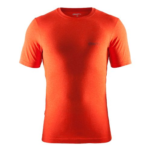 Mens Craft Seamless Touch Tee Short Sleeve Technical Tops - Heat Melange L/XL