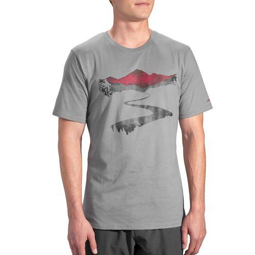 Mens Brooks Long Road T-Shirt Short Sleeve Technical Tops - Oxford L