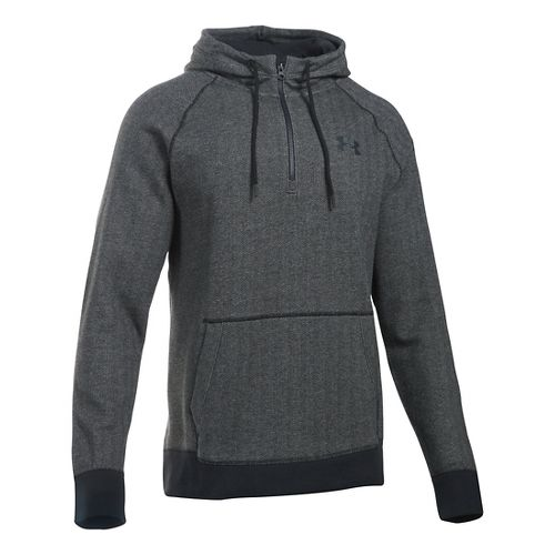 Mens Under Armour Rival Novelty Pullover Hoodie & Sweatshirts Technical Tops - Asphalt/Black XXL