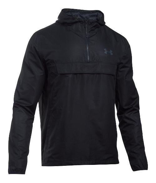Mens Under Armour SportStyle Anorak Half-Zips & Hoodies Technical Tops - Black/Black XXL