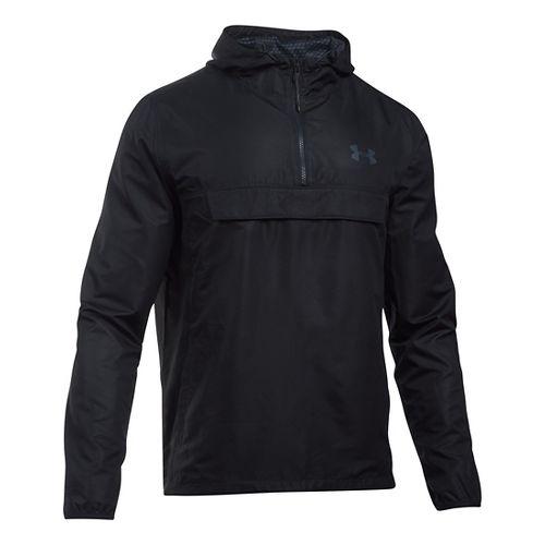 Mens Under Armour SportStyle Anorak Hoodie & Sweatshirts Technical Tops - Black/Black S