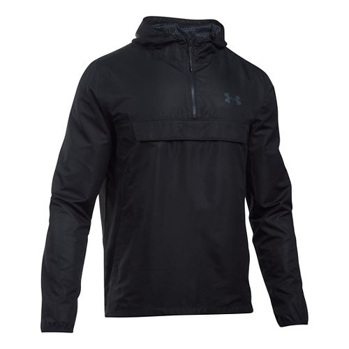 Mens Under Armour SportStyle Anorak Hoodie & Sweatshirts Technical Tops - Black/Black XXL