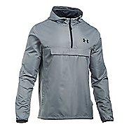 Mens Under Armour SportStyle Anorak Half-Zips & Hoodies Technical Tops - Steel/Steel XL