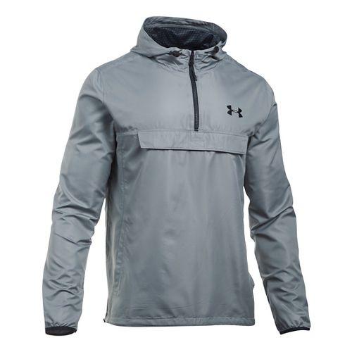 Mens Under Armour SportStyle Anorak Hoodie & Sweatshirts Technical Tops - Steel/Steel L