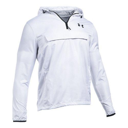 Mens Under Armour SportStyle Anorak Half-Zips & Hoodies Technical Tops - White/White XXL