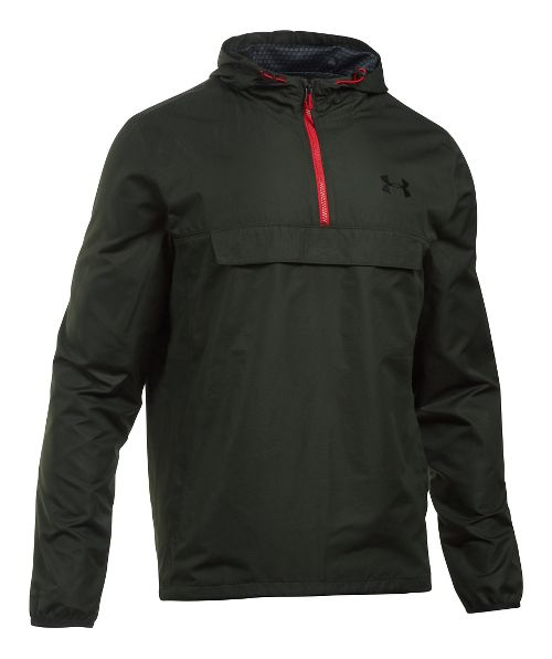 Mens Under Armour SportStyle Anorak Half-Zips & Hoodies Technical Tops - Artillery Green S