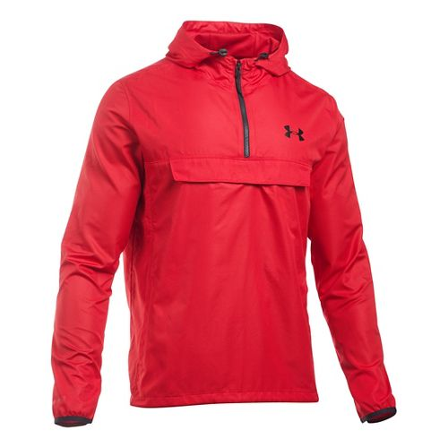 Mens Under Armour SportStyle Anorak Hoodie & Sweatshirts Technical Tops - Red/Red XXL