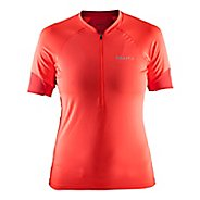 Womens Craft Classic Jersey Short Sleeve Technical Tops - Shock/Tempo M
