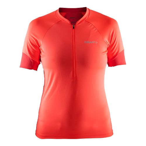 Womens Craft Classic Jersey Short Sleeve Technical Tops - Shock/Tempo S