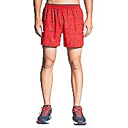 "Mens Brooks Sherpa 5"" Lined Printed Shorts"
