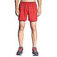 "Mens Brooks Sherpa 5"" Lined Printed Shorts"