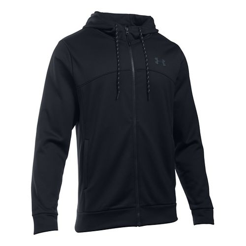 Mens Under Armour Storm Fleece Full-Zip Hoodie & Sweatshirts Technical Tops - Black/Black LR