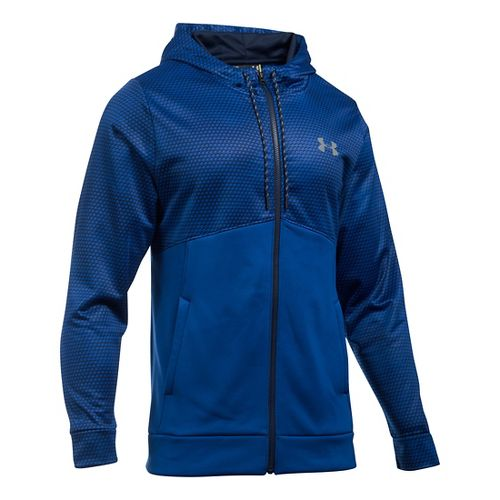 Mens Under Armour Storm Fleece Full-Zip Hoodie & Sweatshirts Technical Tops - Royal/Midnight ...