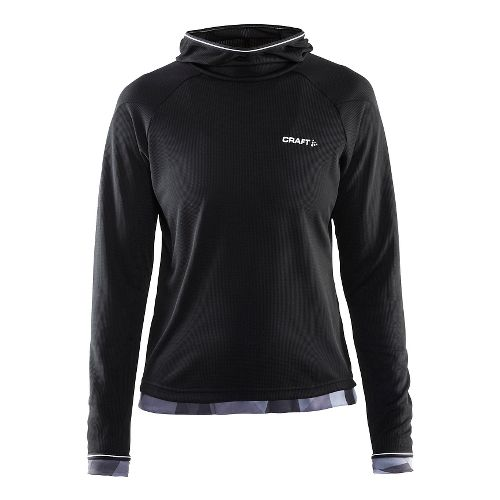 Womens Craft Escape Jersey Long Sleeve Technical Tops - Black/White M