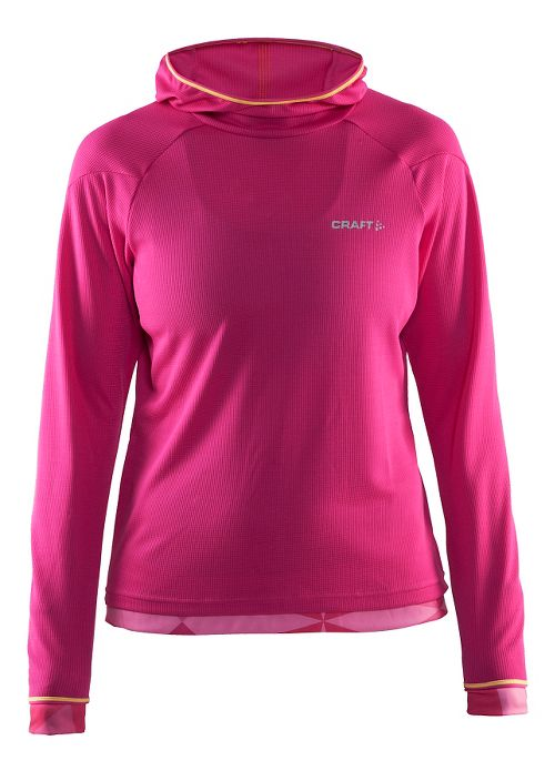 Womens Craft Escape Jersey Long Sleeve Technical Tops - Smoothie/Shine/Geo L