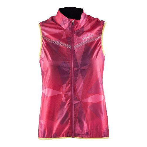 Womens Craft Featherlight Running Vests - Geo Pop/Shine L