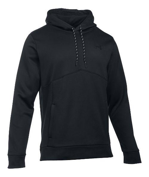 Mens Under Storm Armour Fleece Half-Zips & Hoodies Technical Tops - Navy/Washed Blue XXL