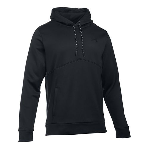 Mens Under Armour Storm Armour Fleece Half-Zips & Hoodies Technical Tops - Black/Black L