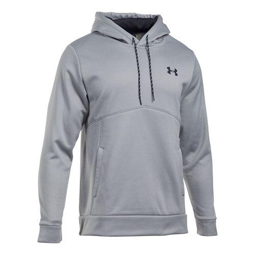 Mens Under Storm Armour Fleece Half-Zips & Hoodies Technical Tops - Grey Heather/Grey S