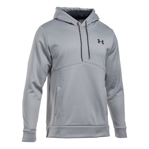 Mens Under Armour Storm Armour Fleece Half-Zips & Hoodies Technical Tops - Grey Heather/Grey ...