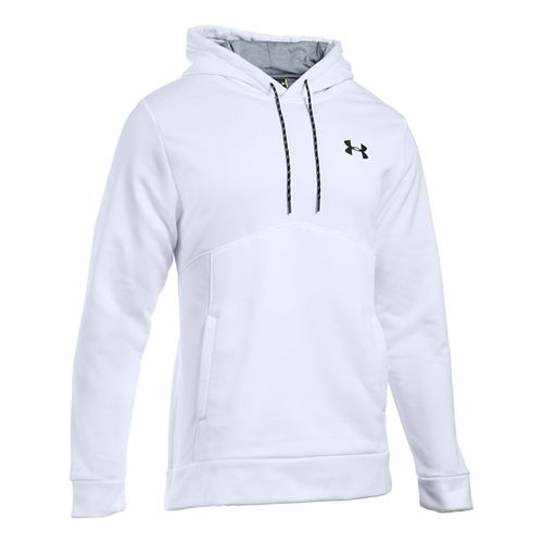 Mens Under Armour Storm Fleece Icon Hoodie & Sweatshirts Technical Tops - White/Steel XLR