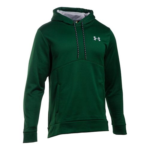 Mens Under Armour Storm Fleece Icon Hoodie & Sweatshirts Technical Tops - Forest/Forest MR