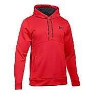 Mens Under Storm Armour Fleece Half-Zips & Hoodies Technical Tops - Red/Black XL