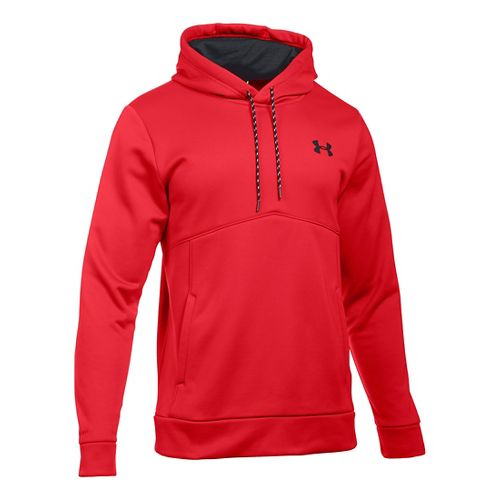Mens Under Armour Storm Armour Fleece Half-Zips & Hoodies Technical Tops - Red/Black 3XL