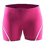 Womens Craft Focus Tights Compression & Fitted Shorts - Smoothie/White M