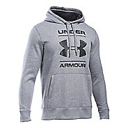 Mens Under Armour Storm Rival Cotton Graphic Pullover Hoodie & Sweatshirts Technical Tops - ...