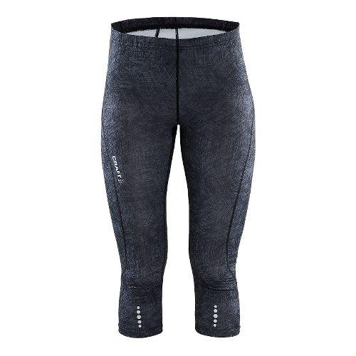 Womens Craft Mind Capris Pants - Line Black XS