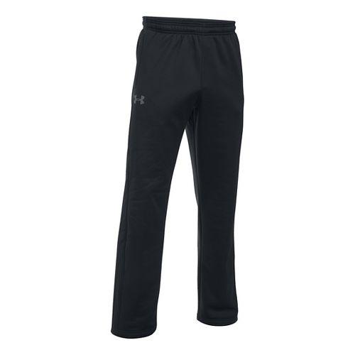 Mens Under Storm Armour Fleece Icon Pants - Black/Black 3XL-T