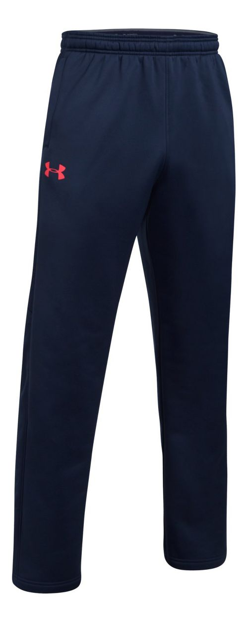 Mens Under Storm Armour Fleece Icon Pants - Midnight Navy/Red 3XL