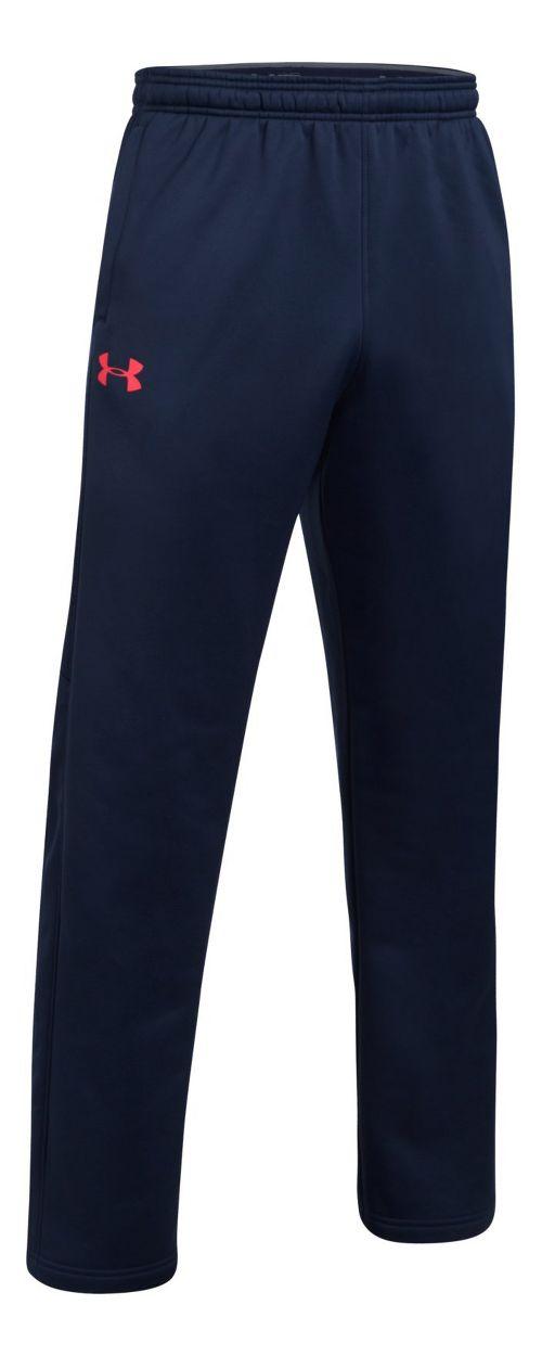 Mens Under Storm Armour Fleece Icon Pants - Midnight Navy/Red XXL