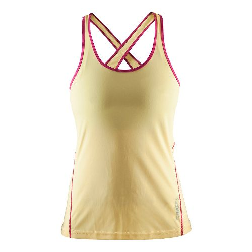 Womens Craft Mind Singlet Sleeveless & Tank Technical Tops - Shine/Smoothie L